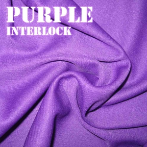 Purple Interlock Fabric
