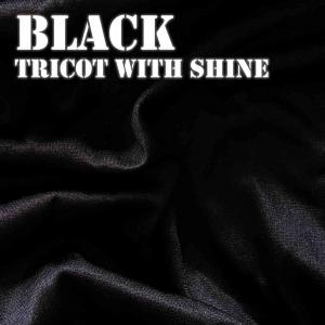 Black Shiny Fabric