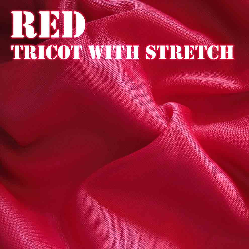 Bouncy Red Fabric