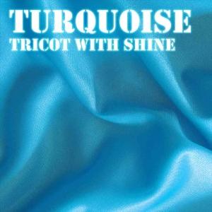 Turquoise Shiny Fabric