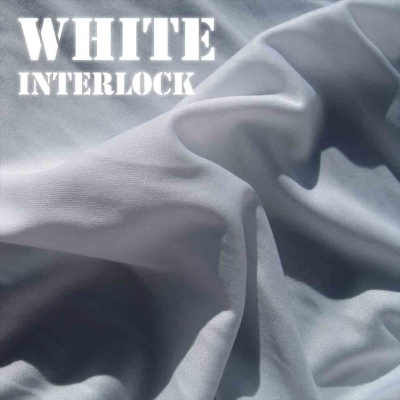 White Interlock Fabric