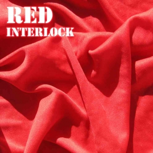 Red Interlock Fabric
