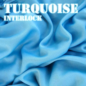 Turquoise Interlock Fabric