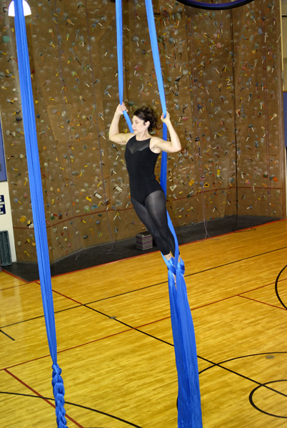 Aerial Fabric at the Point Gym
