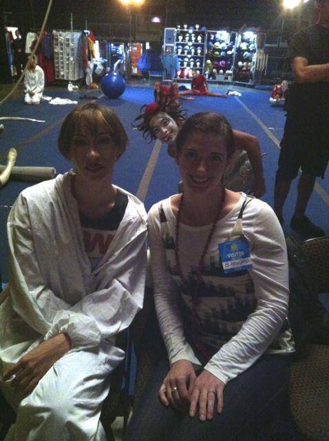 Backstage Quidam with Tanya Burka