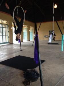 Aerial Fabric Acrobatics Rumpus in Park Sara and Chelsea