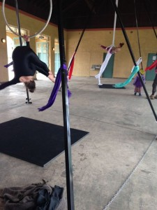 Aerial Fabric Acrobatics Rumpus with Sara and Krissy on Silks