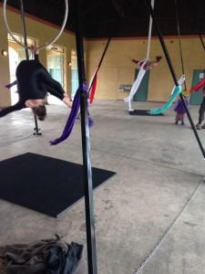 Aerial Fabric Acrobatics Rumpus with Sara and Krissy on Silks