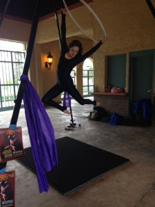 Aerial Fabric Acrobatics at Fantastic Host Rumpus-Sara 2