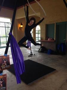 Aerial Fabric Acrobatics at Fantastic Host Rumpus-Sara 2
