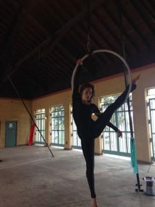 Aerial Fabric Acrobatics at Fantastic Hosts Rumpus-Sara