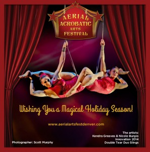 Aerial Fabric sponsors the Aerial Acrobatic Arts Festival Holiday Card