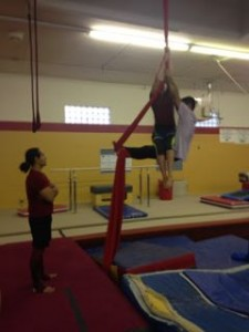 Aerial Fabric Duo Silks Workshop with Sam