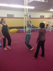Aerial Fabric Straps workshop with Shanaz